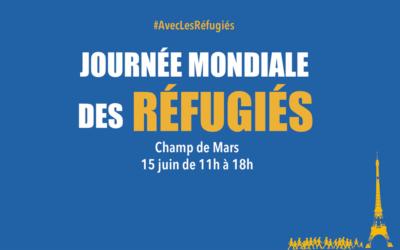 Mobilisation pour la Journée mondiale des réfugiés le 15 juin au Champ de Mars, Paris