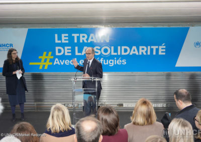 France. UNHCR and partners launch the Solidarity Train project in Paris