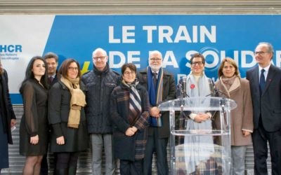 Inauguration du Train de la solidarité