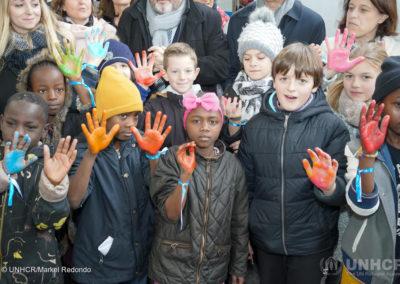Des élèves de l'école de Clerlande de Clermont-Ferrand à bord du Train de la solidarité
