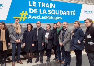 Inauguration du Train de la solidarité en gare de Bordeaux Saint-Jean