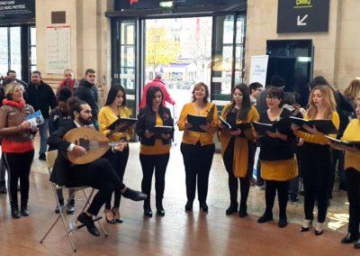 Animation en gare de Bordeaux Saint-Jean #AvecLesRéfugiés