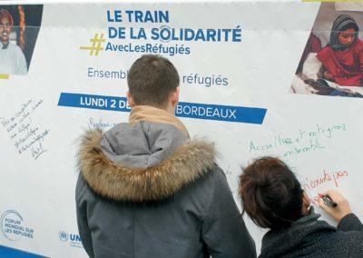 Le Train de la Solidarité à Bordeaux Saint-Jean