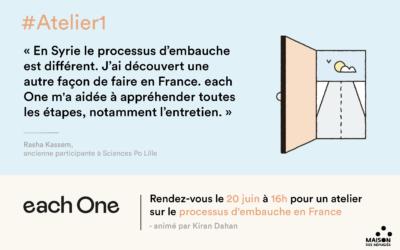 Atelier sur le processus de l'embauche en France pour les nouveaux arrivants