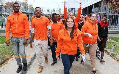 Temps d'échange entre le préfet du Doubs et les jeunes en service civique à Unis-Cité