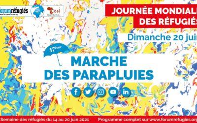 Marche des parapluies à Lyon